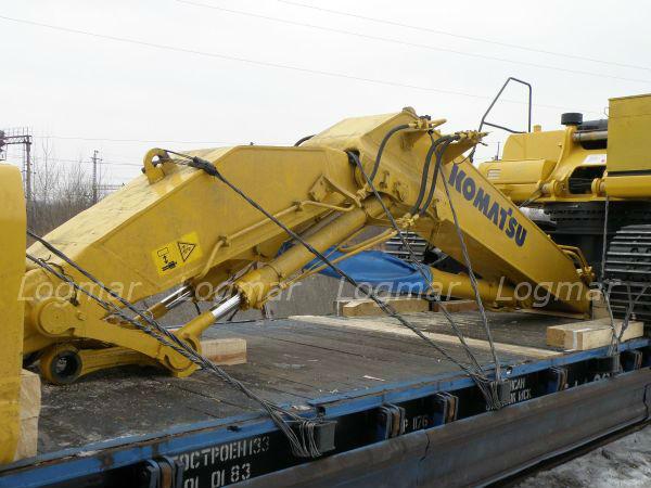 Перевозка негабаритных и тяжеловесных грузов - Komatsu PC400 из Владивостока до Урала