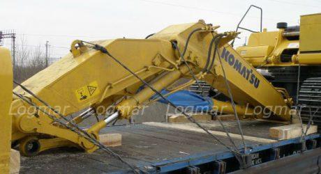 Отправка экскаватора Komatsu PC400 по железной дорогеотправка экскаватора Komatsu PC400